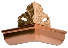 """Rain deflectors are a decorative way to help disperse large amounts of water channeling down a roof line. Attached to the lip of the gutter with ¾"""" stainless steel screws. Copper Gutters, How To Install Gutters, Garden Posts, Roof Lines, Attic Renovation, Stainless Steel Screws, Exterior House Colors, Decorative Accessories, Cool Photos"""