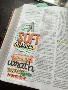 Journaling Bible | Proverbs 15:1