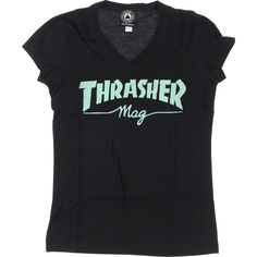 THRASHER MAG LOGO GIRLS V-NECK Black/Mint#1lt2f #1lt2fskateshop #fashion #skateboarding #skateboard #longboarding #mensfashion #womensfashion #fashion #apparel #skatedecks #toys #games #dccomics #marvel #music
