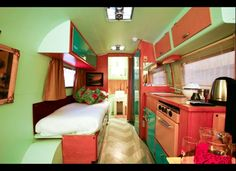 The Grand Daddy: How much do you like lime green? This is truly a colourful palette for your Airstream!