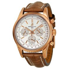 Breitling Transocean Chronograph Automatic Rose Gold Mens Watch RB015212-G738BRLT