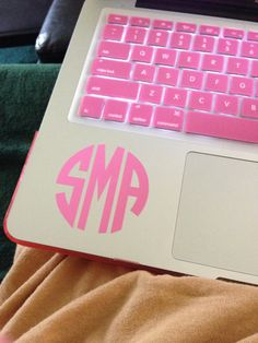 2.5 inch Monogram Sticker Vinyl Decal for by MoffasMonograms, $5.00