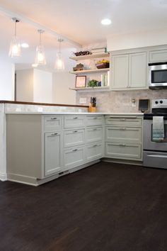 Remodeled Kitchen with Refinished Hardwood Floors