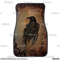 Clockwork Raven Car Mat