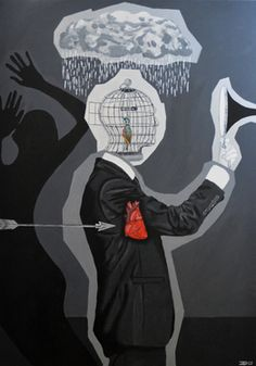 "Saatchi Art Artist Eduardo Bessa Rodrigues; Painting, ""Black series IV - Why Does It Always Rain On Me?"" #art"