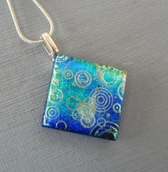 Small Fused Glass Pendant Blue and Green Glass Pendant by GlassCat  https://www.etsy.com/listing/220365964/small-fused-glass-pendant-blue-and-green?ref=fp_item&aref=27099269164