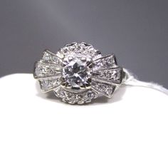 Vintage Art Deco Engagement Ring - i swear this is identical to mom-mom's!!
