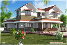beautiful homes | Download Wallpaper Beautiful homes 1600x1067 beautiful villa elevation ...