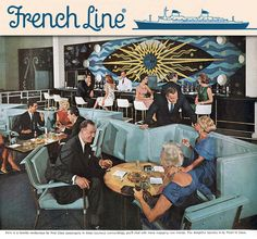 SS France First Class Lounge by ElectroSpark, via Flickr