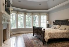 Photos of Luxury Home Master Bedrooms and Bedrooms by Heritage Luxury Builders