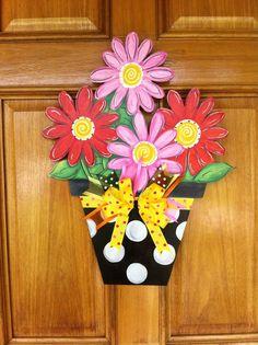Flower pot door decoration von michelleschulten auf Etsy
