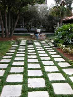 mondo grass walkway- can stay as low as 3''