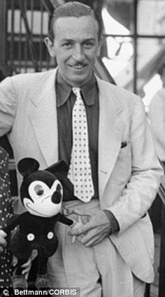 Dream team: Walt Disney with Mickey Mouse, but the now World famous cartoon star could easily have been Oswald the Rabbit