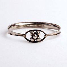 Vintage modernist Scandinavian sterling silver bracelet Erik Granit Finland 1973