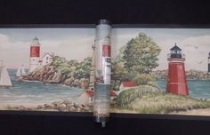 York Wall Border Lighthouses Sailboats Ocean #TK6449B #York