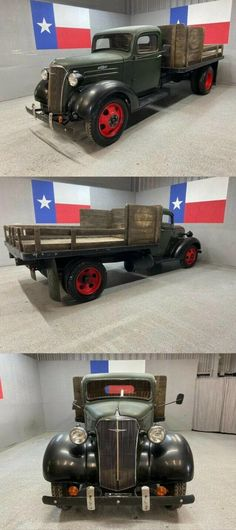 1937 Chevrolet 1 1/2 Ton Pickup Dually Stake Bed Firestone Tires, Dually Trucks, Beds For Sale, Pick Up, Chevrolet, Monster Trucks, War