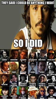 Johnny Depp- Talk about checking stuff off of the bucket list