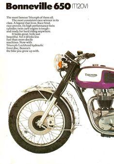 Bike Poster, Motorcycle Posters, Motorcycle Art, Triumph Motorcycles, Cars And Motorcycles, Classic Bikes, Classic Cars, Vintage Ads, Vintage Posters