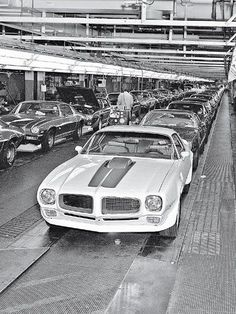 71 Pontiac Trans Am in the assembly line back in the day-http://mrimpalasautoparts.com