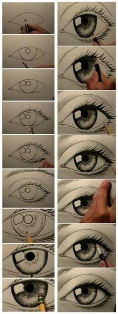 hoe leer ik een oog tekenen stap voor stap