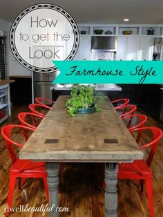Bring Some Brick & Steel To Your Living Space 50 Stunning Industrial Kitchen Decor Designs For Your Urban Cooking Space Industrial Kitchen Design No. Red Dining Chairs, Kitchen Table Chairs, Red Chairs, Metal Chairs, Dining Room, Small Chairs, Colorful Chairs, Dining Tables, New Kitchen