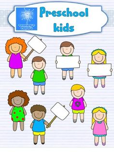 Preschool - Kinder Kids - Multicultural Cute style - Clip art from Teacher s Clip Art on TeachersNotebook.com -  (16 pages)  - This set includes 16 images, both colored and line art, for cute multicultural kids.   These graphics have 300 dpi resolution.  All my clipart sets are for PERSONAL OR COMMERCIAL USE. Please read my t