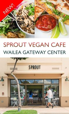 Located in the Wailea Gateway Center, Sprout Vegan Cafe offers an entirely plant-based menu featuring healthy eats and vegan comfort food. Sprout serves a spread of cuisines, from sushi to Thai, Mexican to Mediterranean. Whether you are vegan or not, Sprout is South Maui's go-to for hearty, healthy eats. Vegan Cafe, Vegan Comfort Food, Maui, Sprouts, Sushi, Plant Based, Healthy Eating, Beef, Mexican