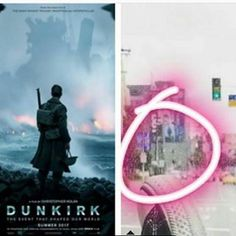 Louis posted a picture on IG 18 february 2017. In the back of the pic there is a dunkirk poster
