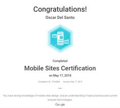Google Mobile Sites Certification May 17 2018