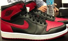 reputable site 4d52b 0ee87 Here is a new image of the 2013 Air Jordan 1 Retro High OG Black  Red  Sneaker which I am sure will be impossible to get for retail whenev.
