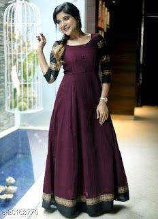 Long Gown Dress, Silk Dress, Anarkali Gown, Sharara, Anarkali Suits, Lehenga Choli, Girls Dresses Sewing, Cotton Gowns, Long Dress Design