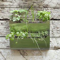 Enviro-friendly cascading herb planter