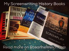 A few of the books I use when teaching History of Screenwriting. Find a complete list using link in my profile. #books #screenwriting #writing #education #teaching #history #film #cinema