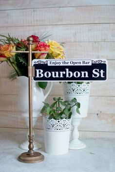 Custom New Orleans Street Sign Table Numbers
