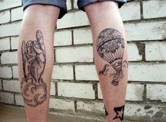 hand & hot air balloon #tattoo