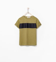 Image 1 of SINGLE STRIPE T-SHIRT WITH POCKET from Zara