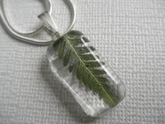 LushGreen Feather Fern Small Glass Rectangle by giftforallseasons