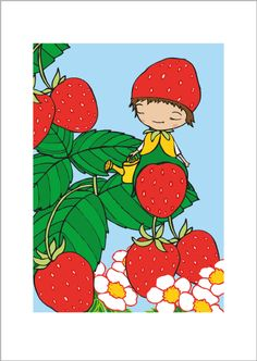 Strawberries print via Terese Bast Papershop. Click on the image to see more!
