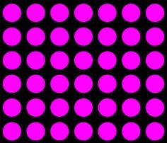 Danita's Pink Polka Dots on Black fabric by midcoast_miscellany on Spoonflower - custom fabric