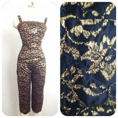 JD Bad Girl Vintage 1950s catsuit jumpsuit Black and by hipsmcgee, $375.00