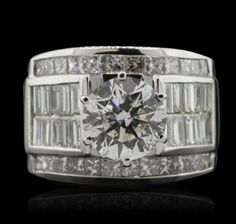 Lot 201: 18KT White Gold 5.12ctw Diamond Ring GB4785 - Seized Assets Auctioneers | AuctionZip
