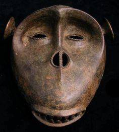 Antique African Abron Brass Monkey Sculptor Bust Head Mask