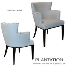 Morgan Armchair, pick fabric, nailheads optional