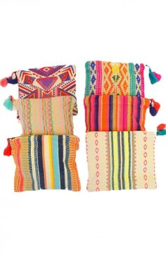 These handcrafted makeup bags by Judith March are bright, bold, fun, and HANDY! They can hold all your favorites in a cinch. Each bag varies, if you have a color preference please note in the NOTES section on the order form.