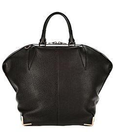 Notes The classic Emile zipped tote with pebbled textured leather (cow) and finished with rose-go...