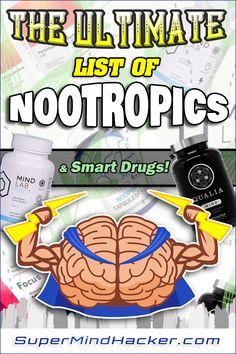 Best Nootropics, Brain Supplements, Brain Tricks, Depression Symptoms, Stress Disorders, Neurotransmitters, Brain Health, How To Increase Energy, Holistic Nutrition