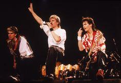 Duran Duran Rosemont Horizon, in Chicago, IL. 1984 February 24 || John Taylpor, Simon Le Bon and Andy Taylor
