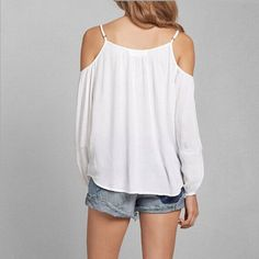 Hot Off-The-Shoulder Top Women Blouses Chiffon Tops Casual White Shirts 2017