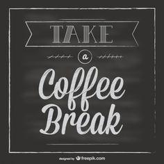 Tipografía de descanso para café Vector Gratis