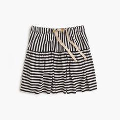 Girls' double-stripe pull-on skirt